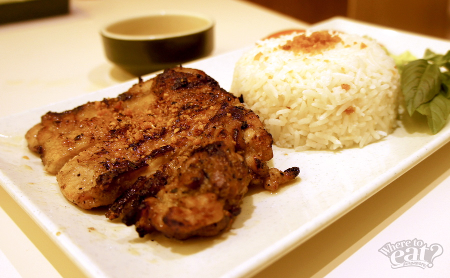 Grilled Chicken Chop with Rice