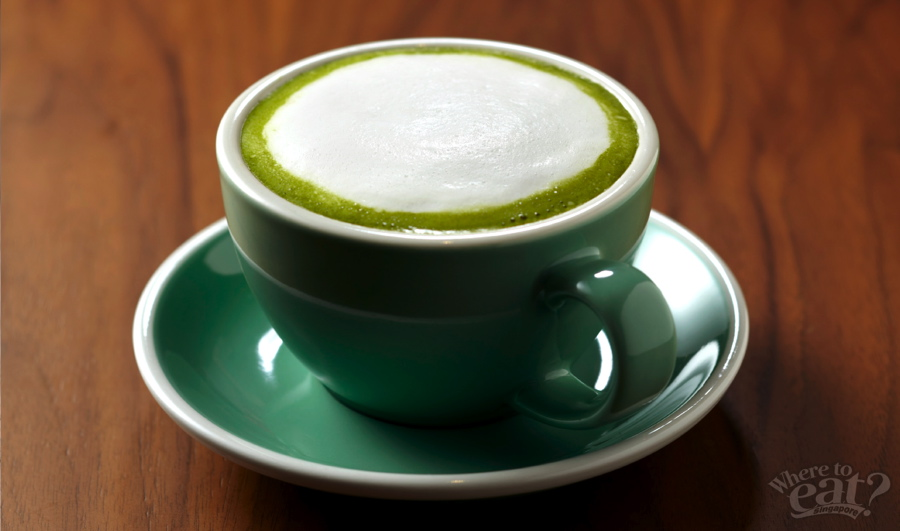 Japanese Matcha Latte, Melon Float