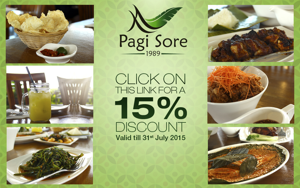 Pagi Sore Indonesian Restaurant in Singapore Promotion